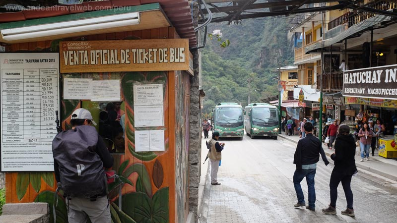 Ticket office for bus tickets to Machu Picchu