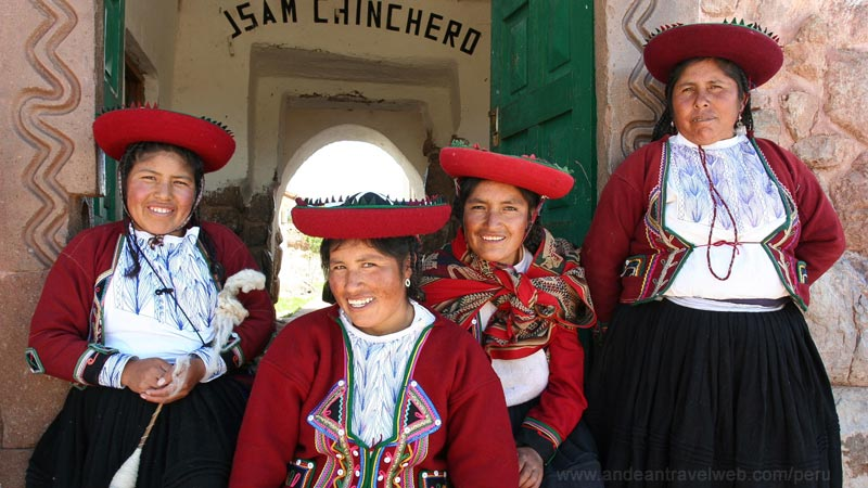Chinchero weaving cooperative wearing traditional dress