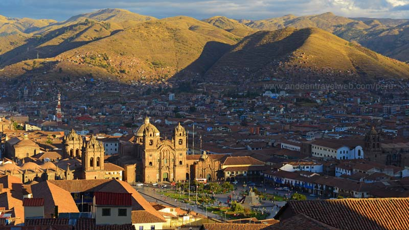 View of Cusco Plaza de Armas from San Cristobal