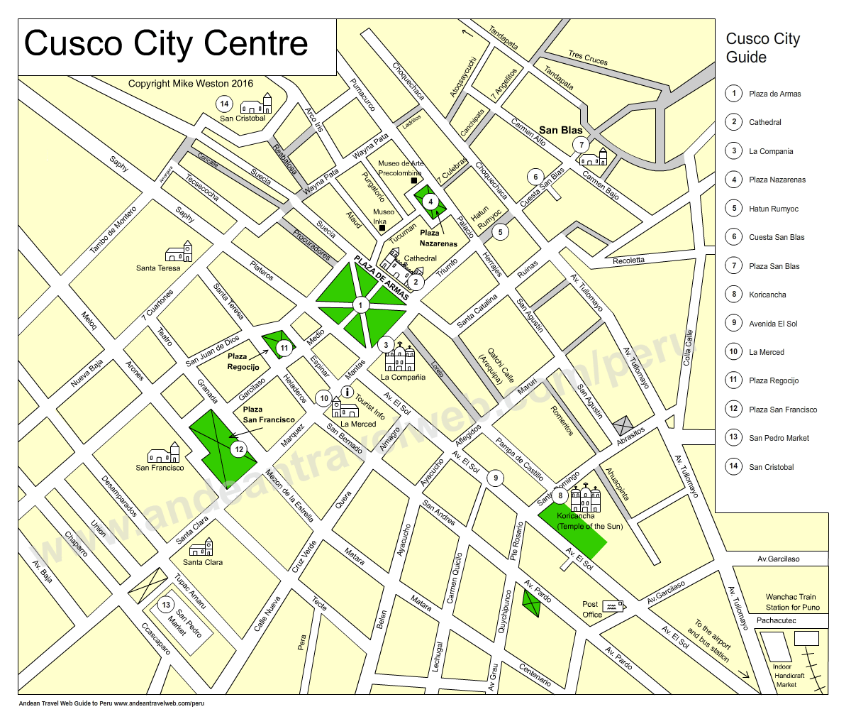 Cusco City Map