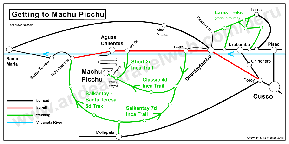 Getting to Machu Picchu Map