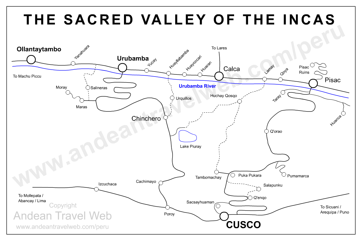 Sacred Valley Map Peru
