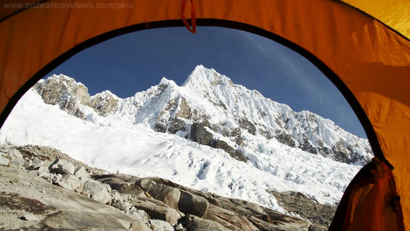 Alpamayo Trek - view from the tent
