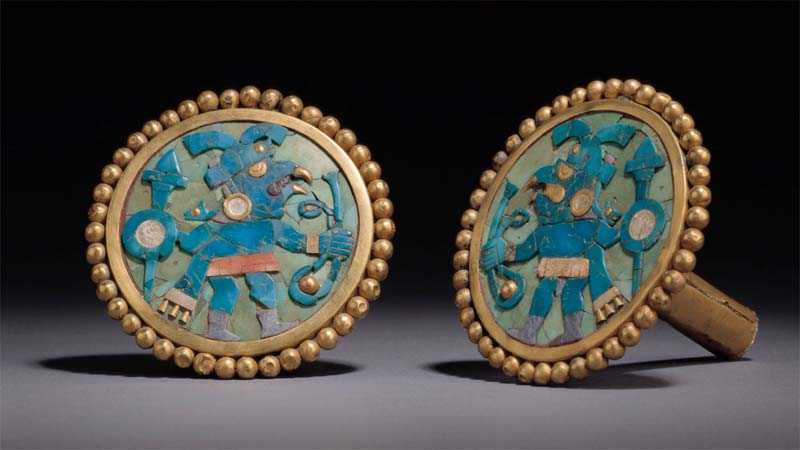 Moche Style Ear Ornaments from the Larco Museum in Lima