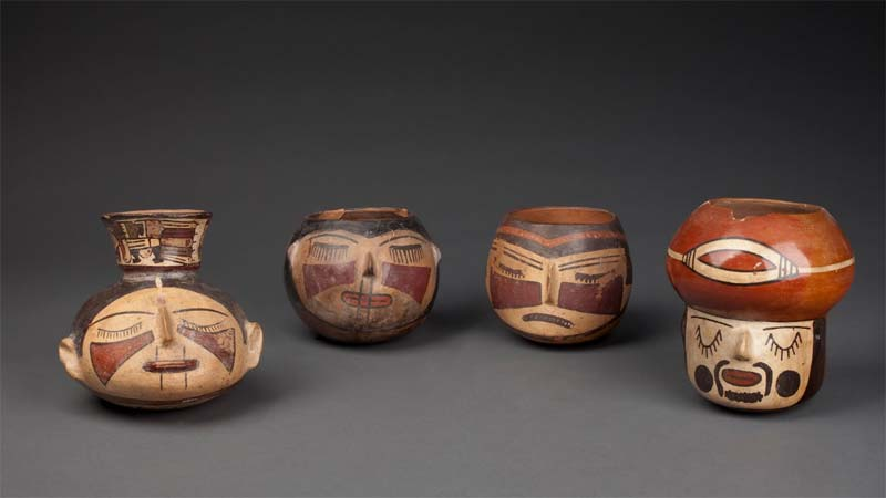 Nazca Style Ceremonial Vessels from the Museo Larco, Lima