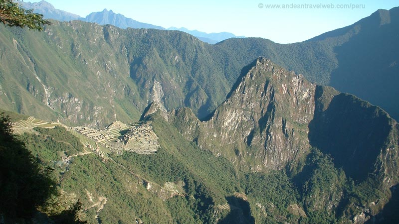 View of Machu Picchu from the Sun Gate