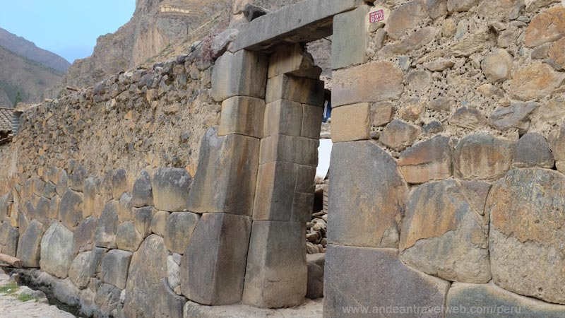 Inca doorways in the town of Ollantaytambo